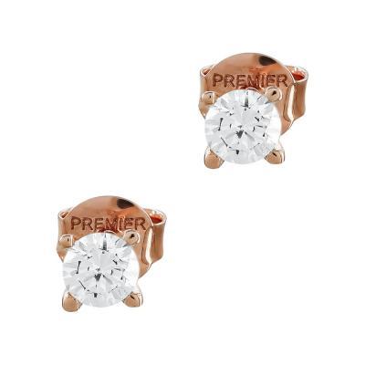 Σκουλαρίκια Με Πέτρες Από Ροζ Χρυσό Κ14 SK05097