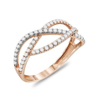 Δαχτυλίδι Mε Πέτρες Από Ροζ Χρυσό Κ14 DX91909
