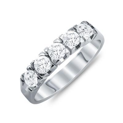 Σειρέ Δαχτυλίδι Με Διαμάντια Brilliant Aπό Λευκόχρυσο Κ18 R20250