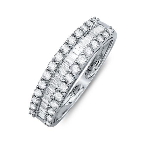 Σειρέ Δαχτυλίδι Με Διαμάντια Brilliant Aπό Λευκό Χρυσό Κ18 R25456