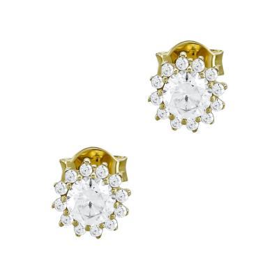 Σκουλαρίκια Με Πέτρες Από Κίτρινο Χρυσό Κ14 SK03528