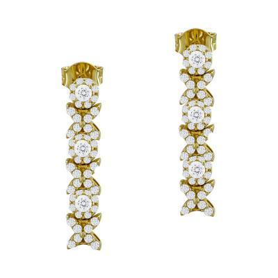 Σκουλαρίκια Με Πέτρες Από Κίτρινο Χρυσό Κ14 SK90893