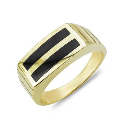Ανδρικό Δαχτυλίδι από Κίτρινο Χρυσό K14 ADX141
