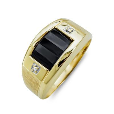 Ανδρικό Δαχτυλίδι από Κίτρινο Χρυσό K14 ADX142