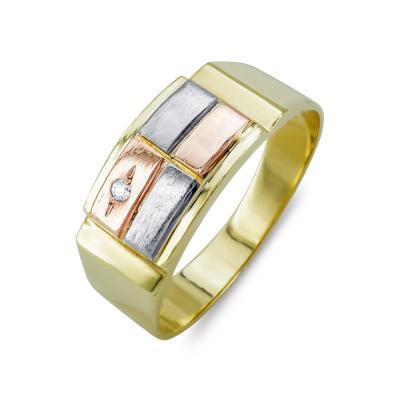 Ανδρικό Δαχτυλίδι από Δίχρωμο Χρυσό K14 ADX137