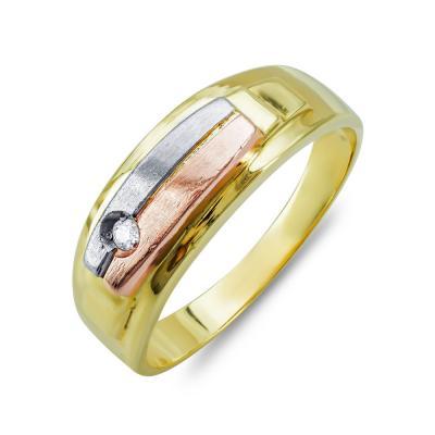 Ανδρικό Δαχτυλίδι από Δίχρωμο Χρυσό K14 ADX138