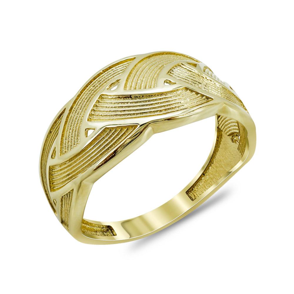 Δαχτυλίδι Φαρδύ Από Κίτρινο Χρυσό Κ14 DX04641
