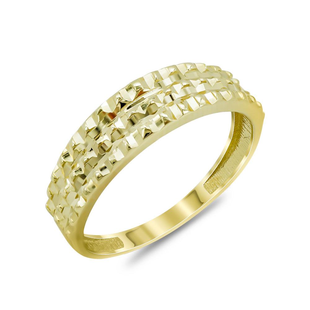 Δαχτυλίδι Φαρδύ Από Κίτρινο Χρυσό Κ14 DX04647