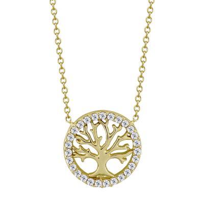 Μενταγιόν Με Το Δέντρο Της Ζωής Από Κίτρινο Χρυσό Κ9 M98680