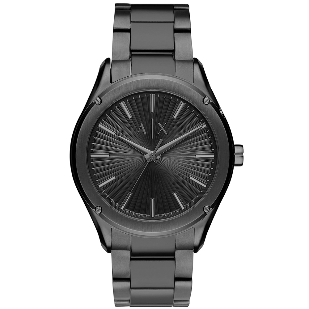 ARMANI EXCHANGE Fitz Black Stainless Steel Bracelet AX2802