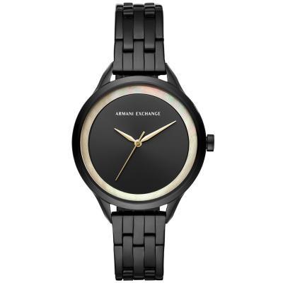 ARMANI EXCHANGE Harper Black Stainless Steel Bracelet AX5610