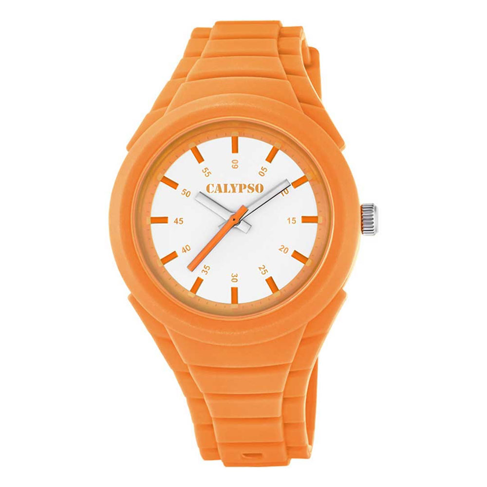 CALYPSO Kids Orange Rubber Strap K5724-7