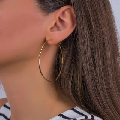 Σκουλαρίκια Κρίκοι Από Επιχρυσωμένο Ασήμι SK1057