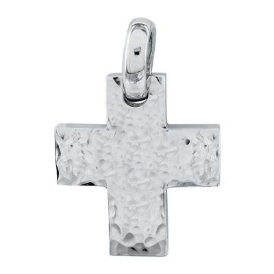 Σταυρός Βάπτισης Aνδρικός Σε Λευκό Χρυσό 18 Καρατίων ST26555