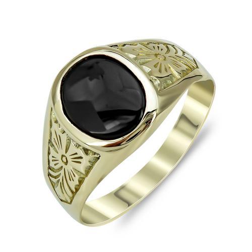 Ανδρικό Δαχτυλίδι από Κίτρινο Χρυσό K14 ADX147