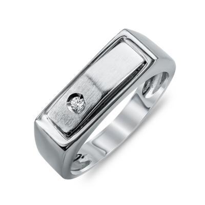 Ανδρικό Δαχτυλίδι από Λευκό Χρυσό K14 ADX116