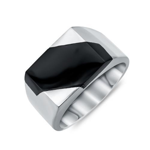 Ανδρικό Δαχτυλίδι από Λευκό Χρυσό K14 ADX117
