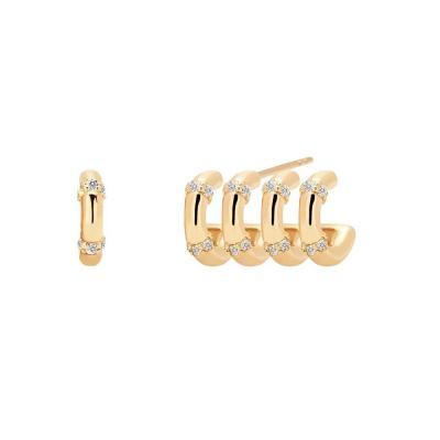 PDPAOLA GISELLE Σκουλαρίκια από Επιχρυσωμένο Ασήμι AR01-108-U