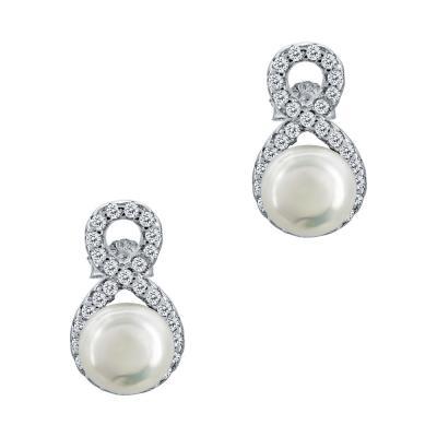 Σκουλαρίκια Με Μαργαριτάρια Από Ασήμι SK1052