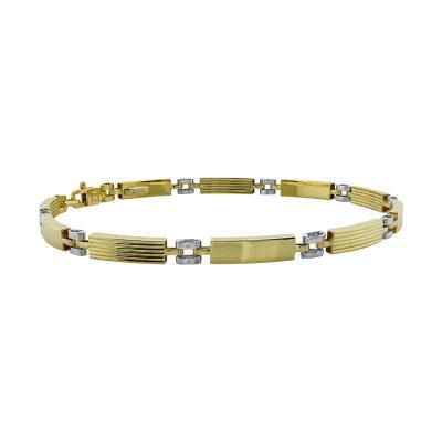 Ανδρικό Βραχιόλι Από Δίχρωμο Χρυσό Κ9 AVR01829