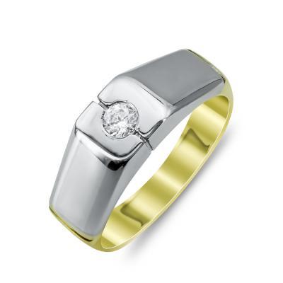 Ανδρικό Δαχτυλίδι από Δίχρωμο Χρυσό K14 ADX123