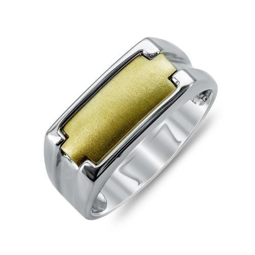 Ανδρικό Δαχτυλίδι από Δίχρωμο Χρυσό K14 ADX121