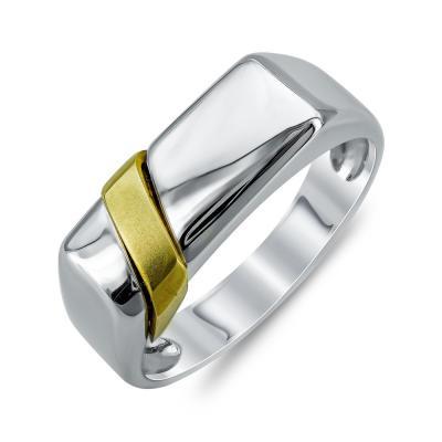 Ανδρικό Δαχτυλίδι από Δίχρωμο Χρυσό K14 ADX122