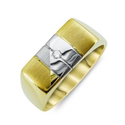 Ανδρικό Δαχτυλίδι από Δίχρωμο Χρυσό K14 ADX124