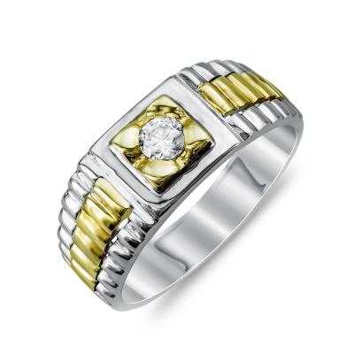 Ανδρικό Δαχτυλίδι από Δίχρωμο Χρυσό K14 ADX125