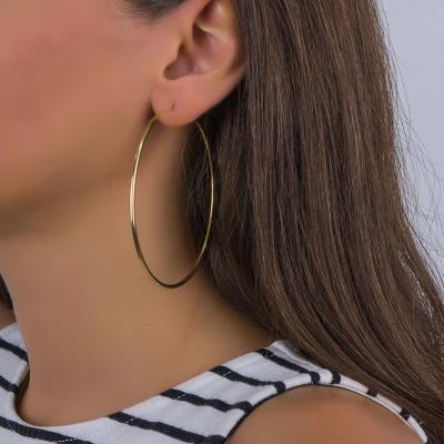 Σκουλαρίκια Κρίκοι Από Επιχρυσωμένο Ασήμι SK1062