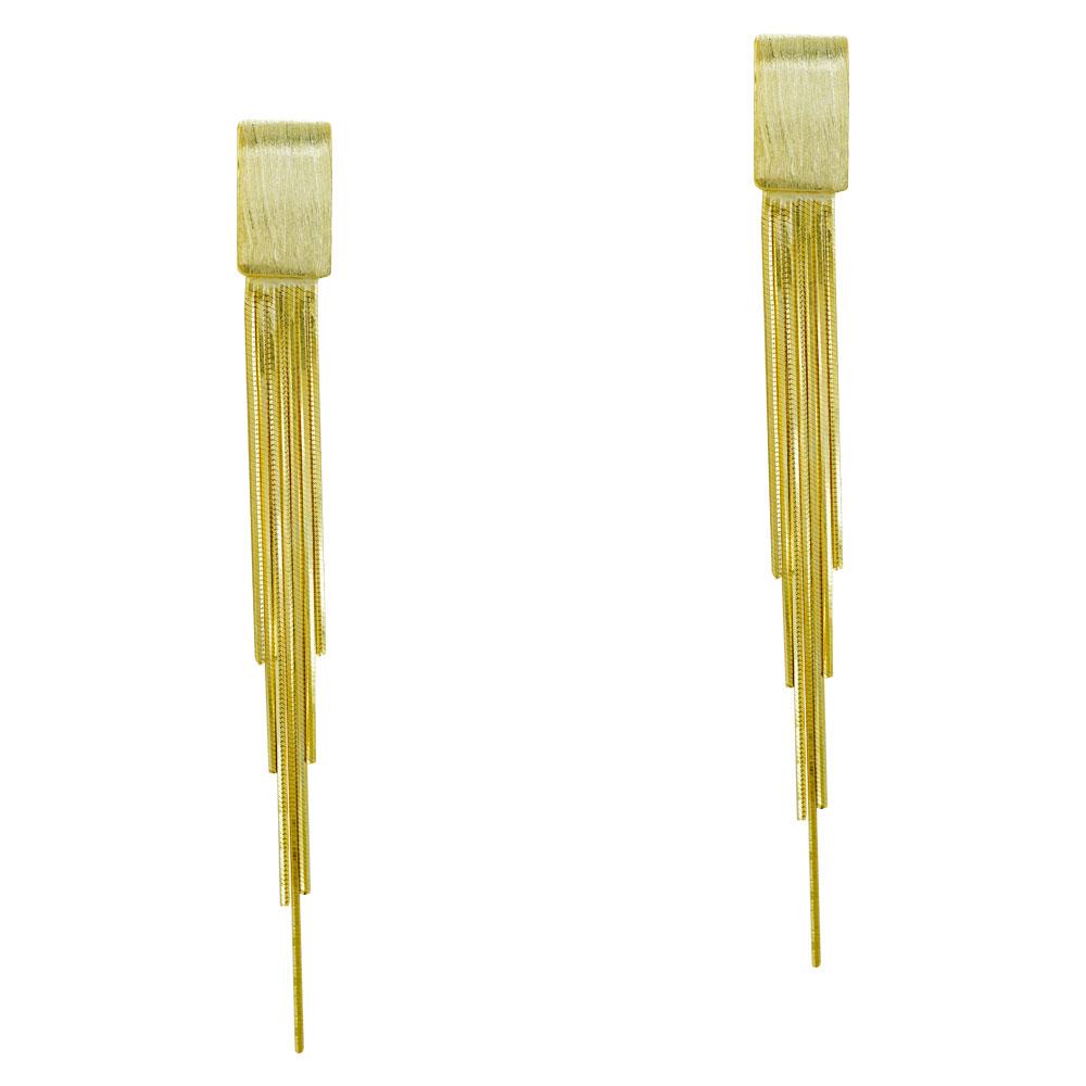 Σκουλαρίκια Κρεμαστά Από Επιχρυσωμένο Ασήμι SK1066