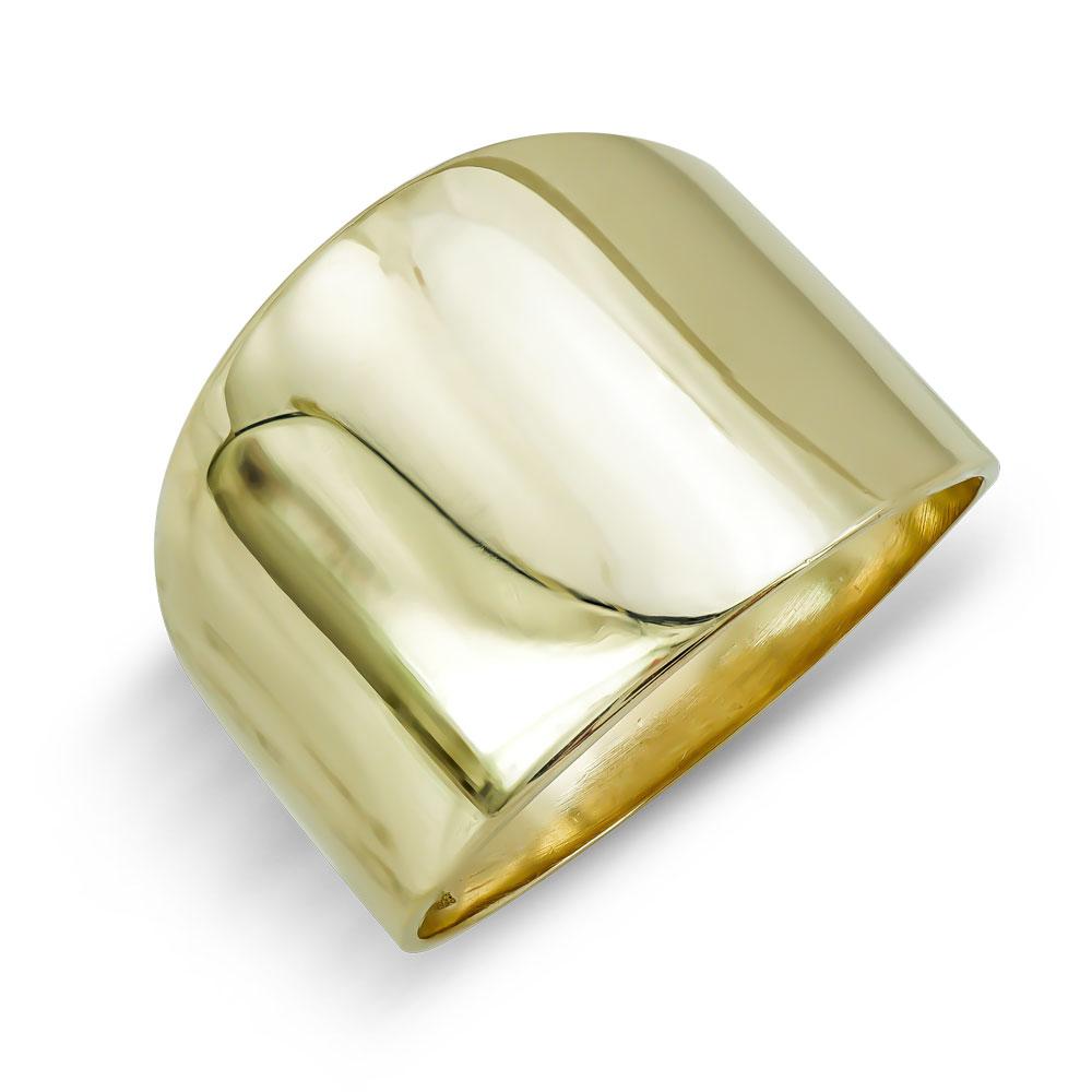 Δαχτυλίδι Φαρδύ Από Κίτρινο Χρυσό Κ9 DX800