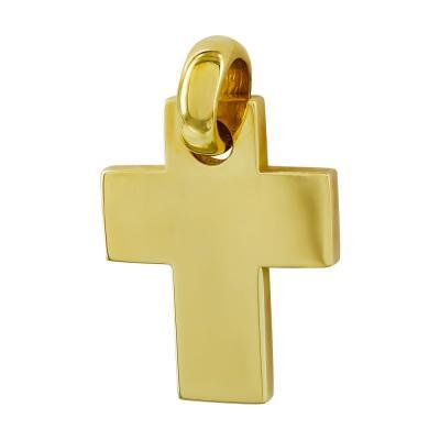 Σταυρός Βάπτισης Aνδρικός Σε Κίτρινο Χρυσό 18 Καρατίων ST26556
