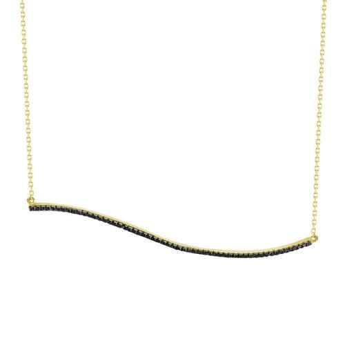 Κολιέ Με Πέτρες Από Κίτρινο Χρυσό Κ14 KL77346