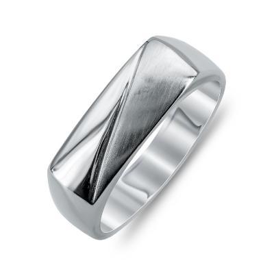 Ανδρικό Δαχτυλίδι από Λευκό Χρυσό K14 ADX110