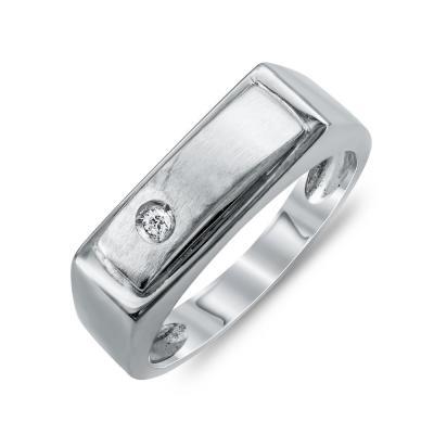 Ανδρικό Δαχτυλίδι από Λευκό Χρυσό K14 ADX115