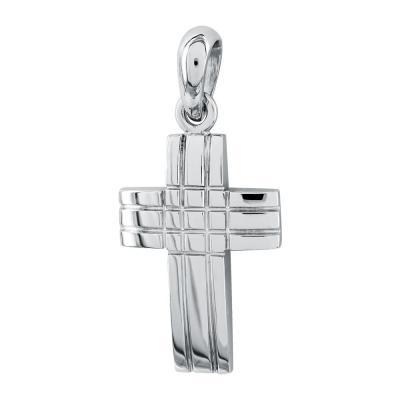 Σταυρός Βάπτισης Aνδρικός Σε Λευκό Χρυσό 18 Καρατίων ST2649