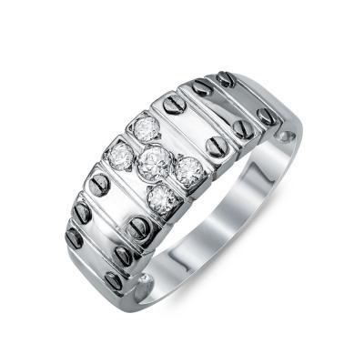 Ανδρικό Δαχτυλίδι από Λευκό Χρυσό K14 ADX114
