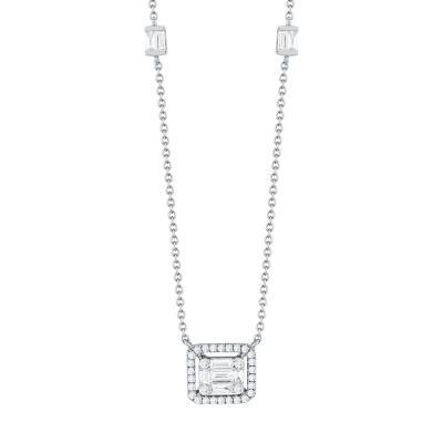 Μενταγιόν Με Διαμάντια Βrilliant Από Λευκό Χρυσό Κ18 KL939