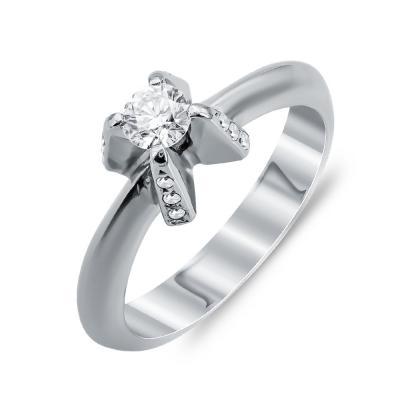 Mονόπετρο Δαχτυλίδι Με Διαμάντια Brilliant Aπό Λευκό Χρυσό Κ18 DDX271