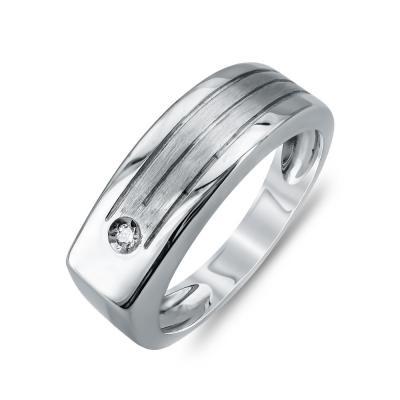 Ανδρικό Δαχτυλίδι από Λευκό Χρυσό K14 ADX111