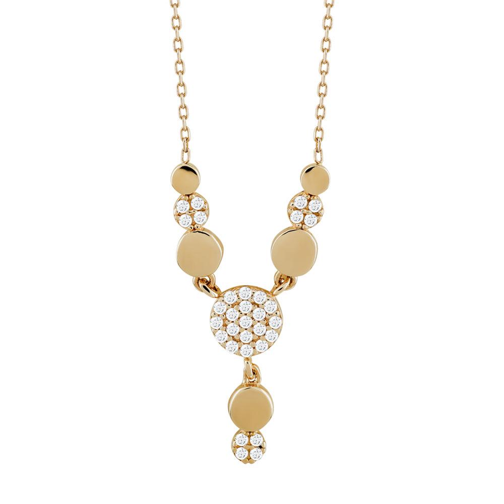 Κολιέ Με Πέτρες Από Ροζ Χρυσό Κ14 KL03370