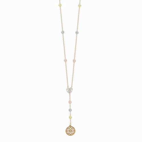 Κολιέ Με Διαμανταρισμένες Μπαλίτσες Από Ροζ Χρυσό Κ14 KL04671