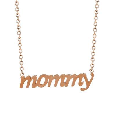 Κολιέ Mommy Από Ροζ Χρυσό Κ9 KL89837