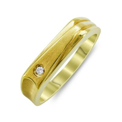Ανδρικό Δαχτυλίδι Με Διαμάντι Brilliant από Κίτρινο Χρυσό K18 ADX109