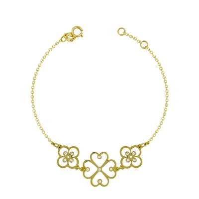 Βραχιόλι Με Πέτρες Από Kίτρινο Χρυσό Κ9 VR96178