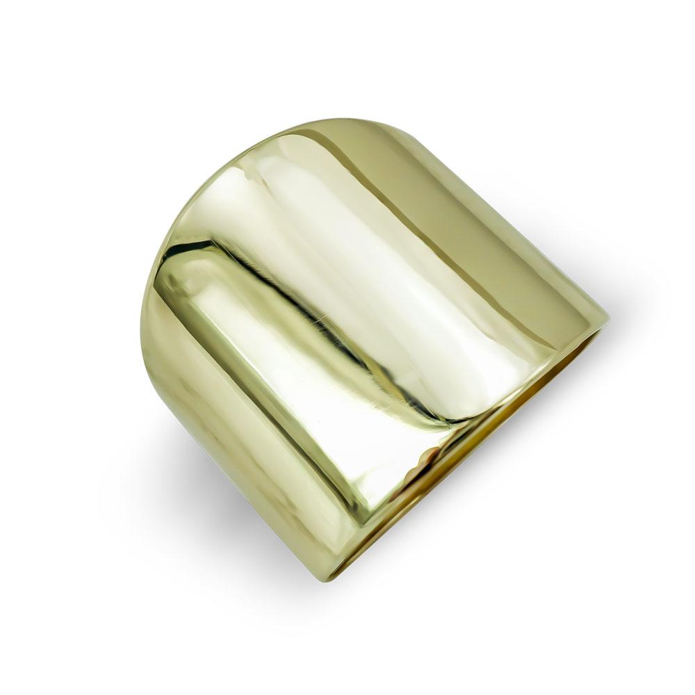 Δαχτυλίδι Φαρδύ Από Κίτρινο Χρυσό Κ9 DX799