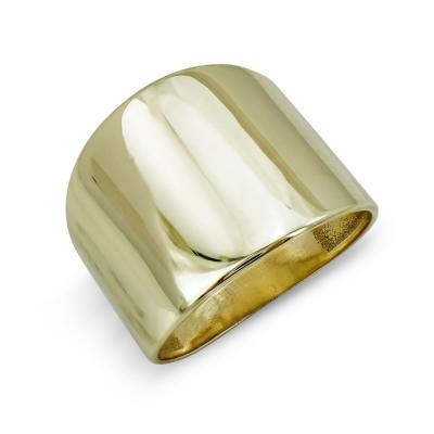 Δαχτυλίδι Φαρδύ Από Κίτρινο Χρυσό Κ9 DX801