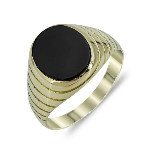 Ανδρικό Δαχτυλίδι από Κίτρινο Χρυσό K14 ADX146