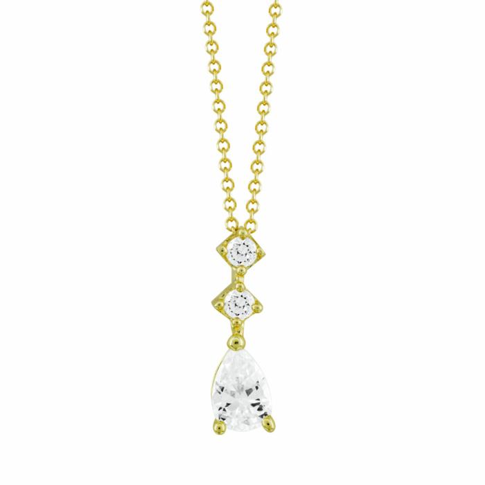 Κολιέ Με Πέτρες Από Κίτρινο Χρυσό Κ9 KL04925